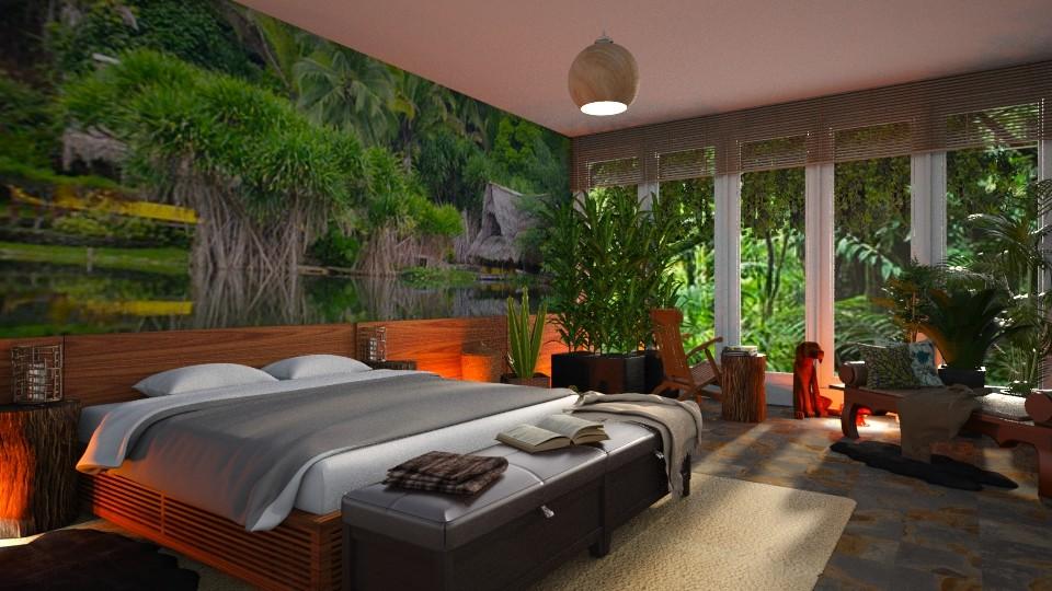urban Jungle bedroom - by ilcsi1860