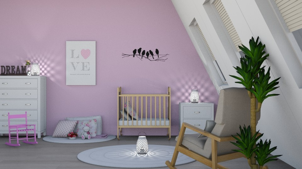 Its a Girl - Feminine - Kids room - by millerfam