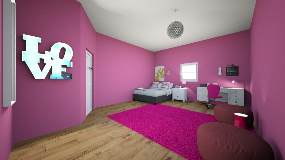 chambre gloria - Feminine - Bedroom - by carmenouloulou