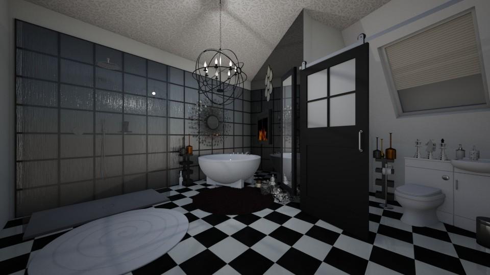 black and white - Classic - Bathroom - by kla