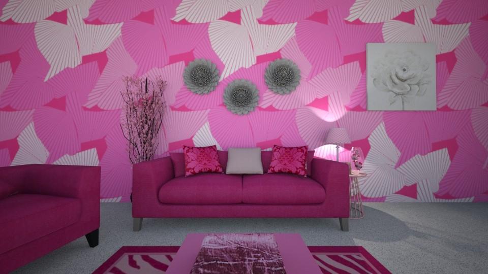 Pretty in Pink - Living room - by ijustlikemakingfloorplans