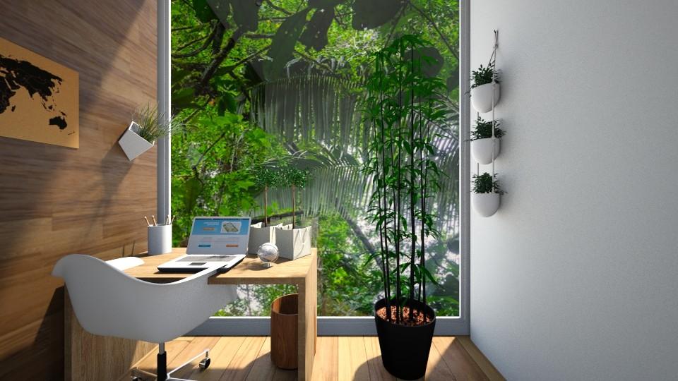 Green Office Scene - Office - by GinnyGranger394