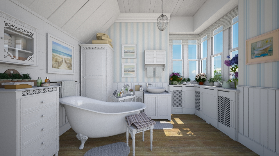 Seaside Bath - Bathroom - by Violetta V