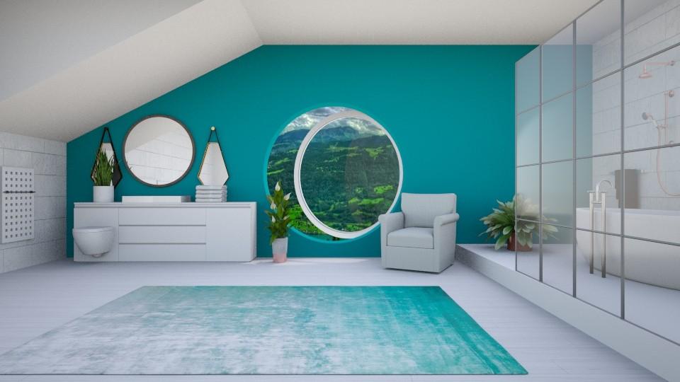 Attic Bathroom - by KKTO