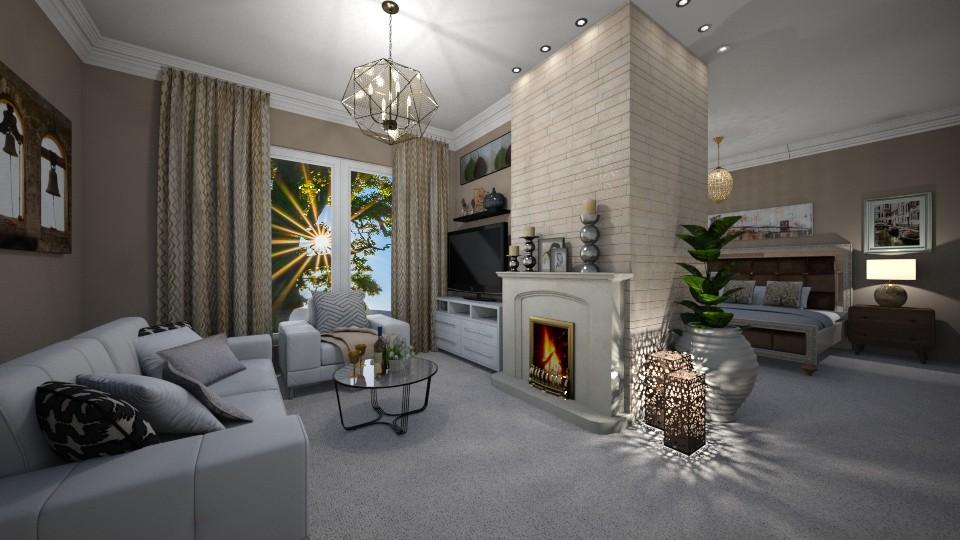 Modern Bedroom - Bedroom - by JarkaK