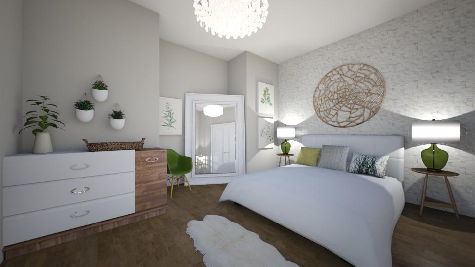 Light Green Bedroom - Bedroom - by LaughingDonut