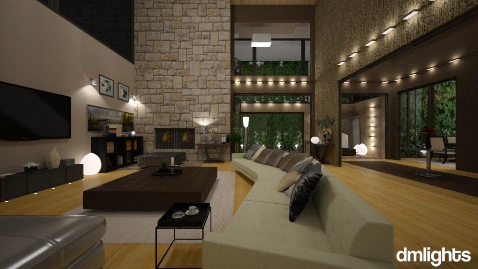 LivingRoomDmLights - Modern - Living room - by Mihailovikj Mimi