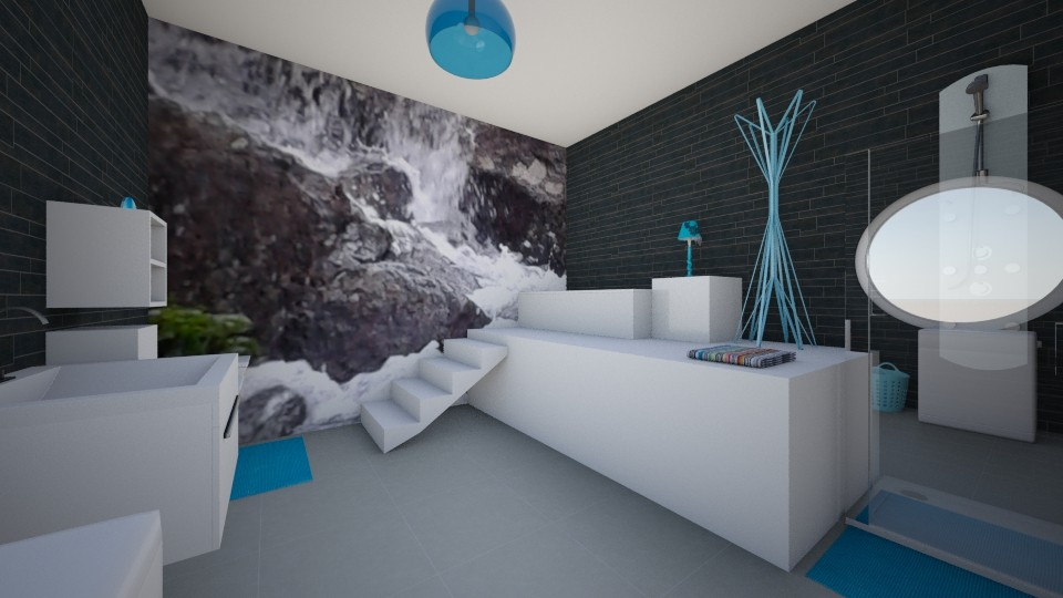 nature wallpaper - Modern - Bathroom - by Dominisiaa55555