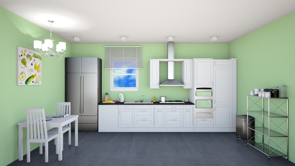 Green Kitchen - Kitchen - by Abigail Enloe