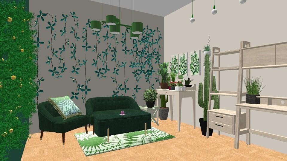 Urban Jungle Living - Living room - by LexieB123