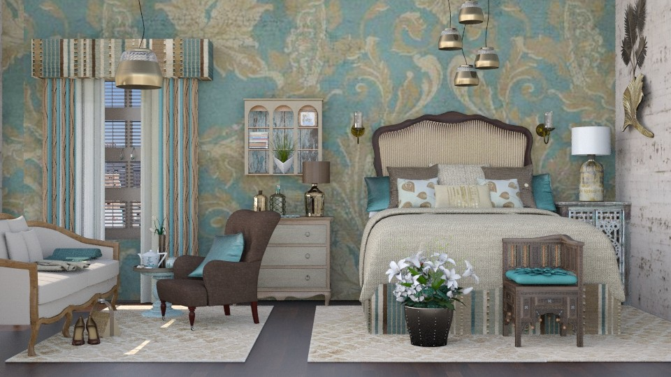 bronze - Feminine - Bedroom - by starsector