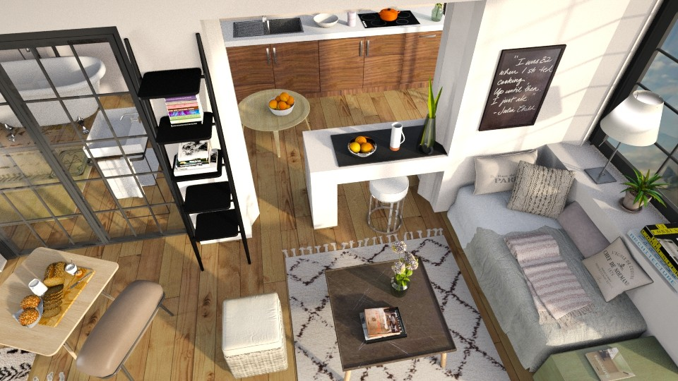 One Room Apartment 2 - Eclectic - by Sally Simpson