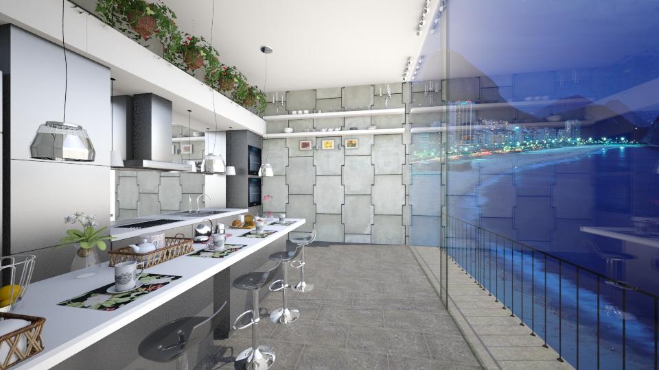 Cobertura Cozinha - Kitchen - by Mariesse Paim