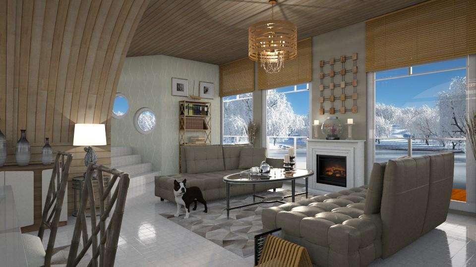 Boathouse on ice - Living room - by bigmama14