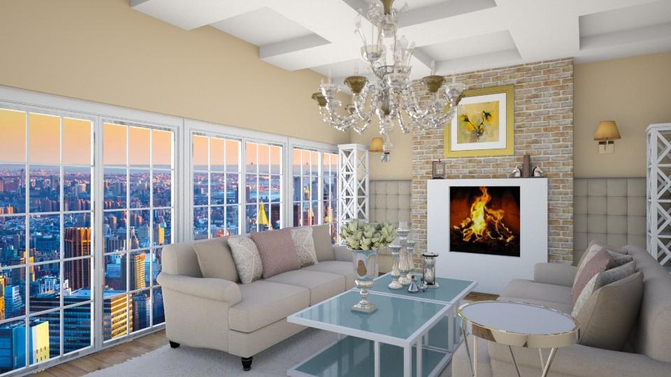 classy living room - Living room - by eleonoraxruc