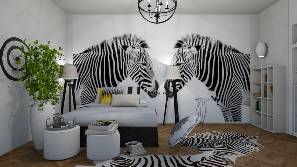 Striped Bedroom - by ZuzanaDesign