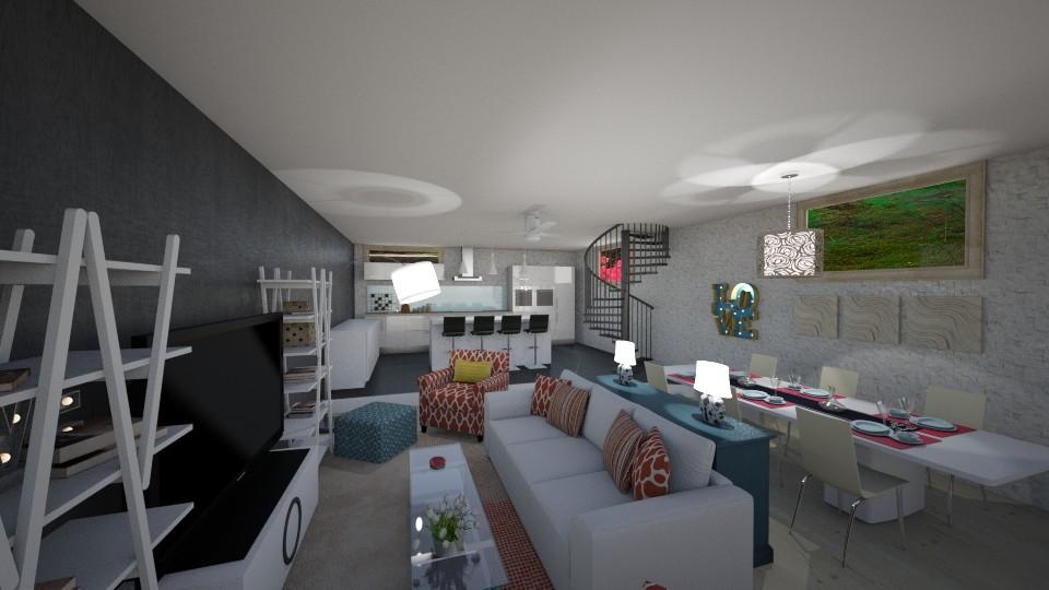 main floor plan  - Living room - by MilenaTheDesigner