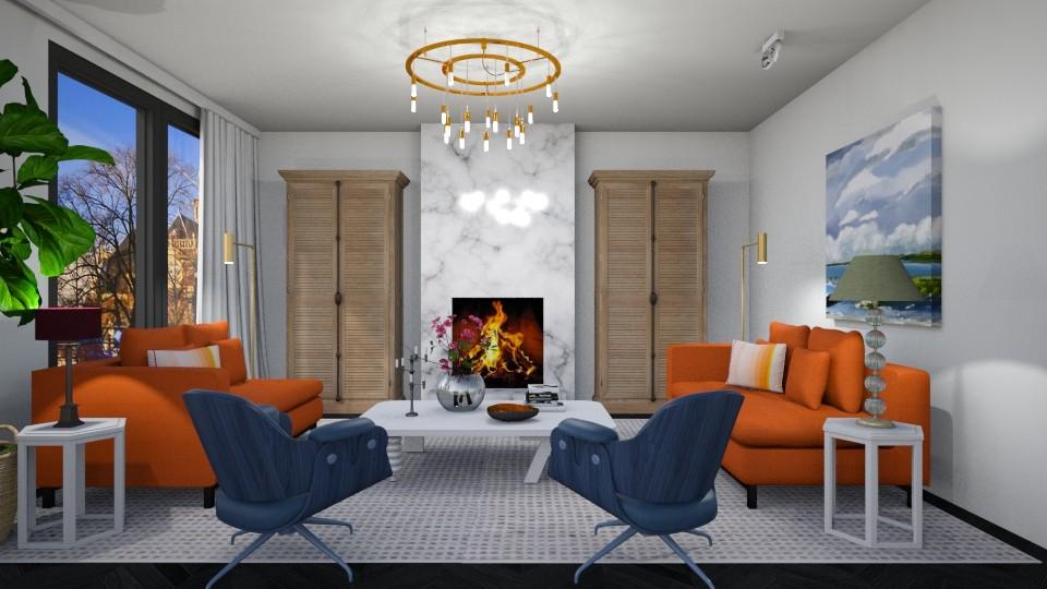 Living OrangeBlue - Modern - Living room - by 3rdfloor