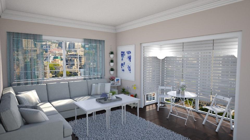 Feminine Floral Living Room - Minimal - by Cap98