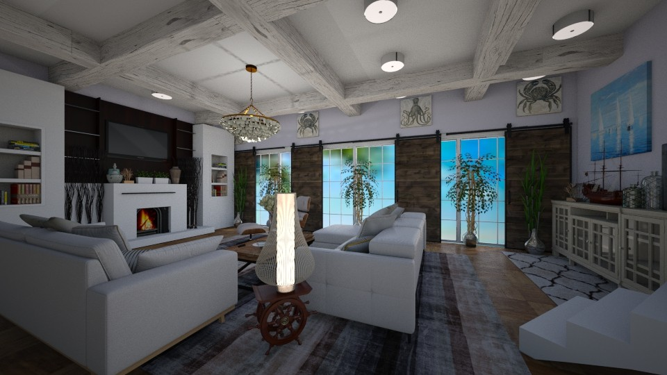 Beach Life my granny style - Living room - by kla