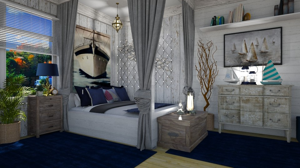 Nautical Bedroom - Bedroom - by  krc60