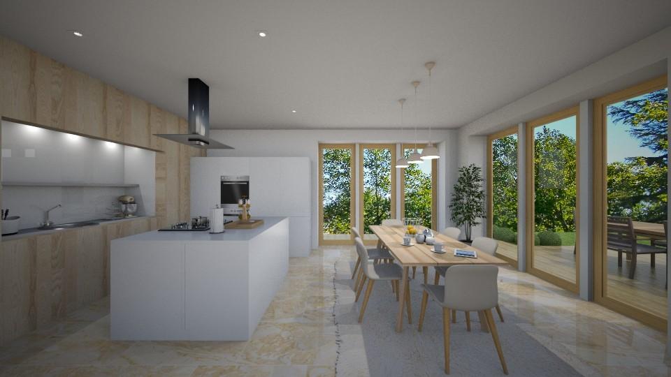 Cosy modern kitchen - Kitchen - by tornadolynn