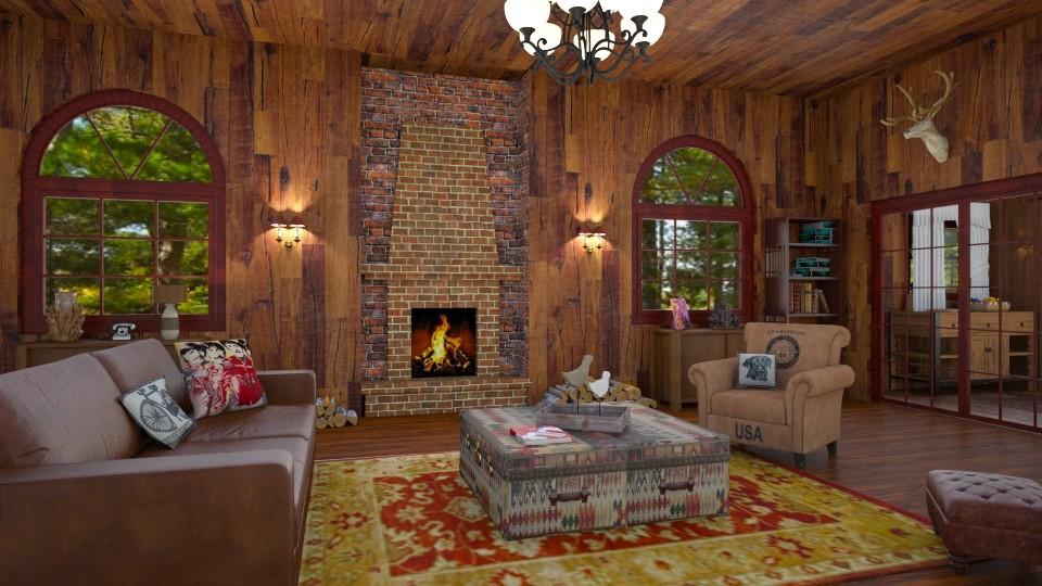 wooden cabin  - by IsabelRule