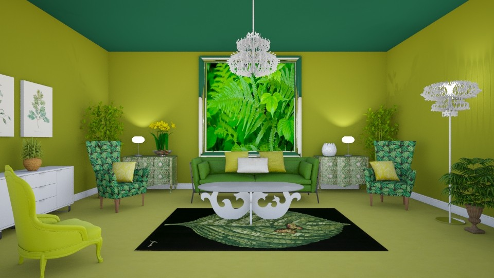 Natures Way 2 - Living room - by KarmaKitten