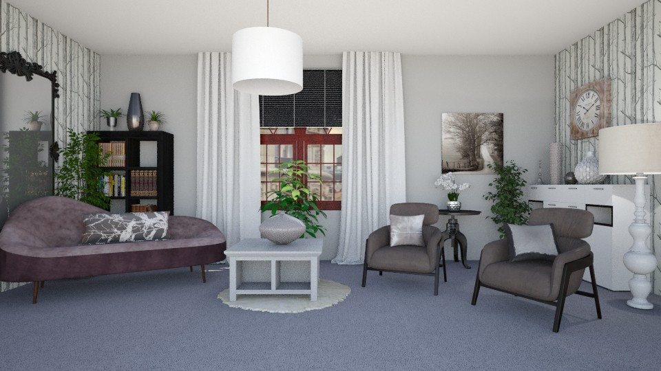 Brown Grey White - Living room - by KarmaKitten