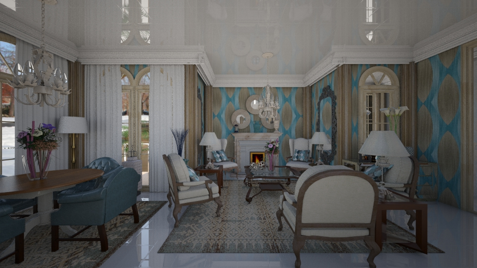 Elegance - Living room - by Maria Helena_215