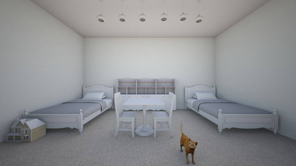 girls white room - by jmeyer2x4