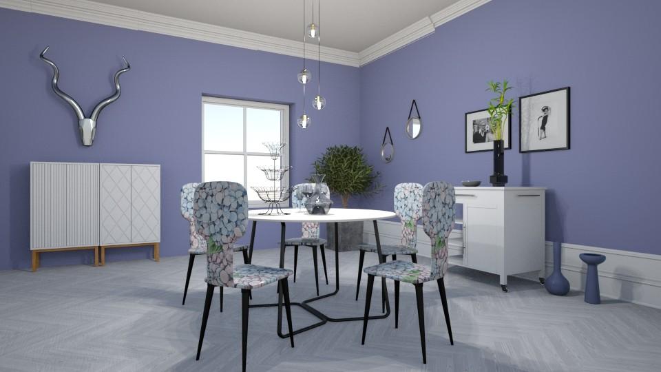 White dining room - by BortikZemec
