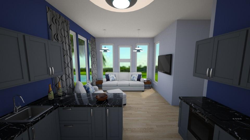 Blue Home - Modern - Living room - by millerfam