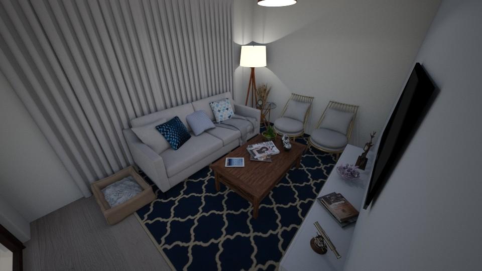 Sala de estar - Living room - by NICOLY ALECRIM
