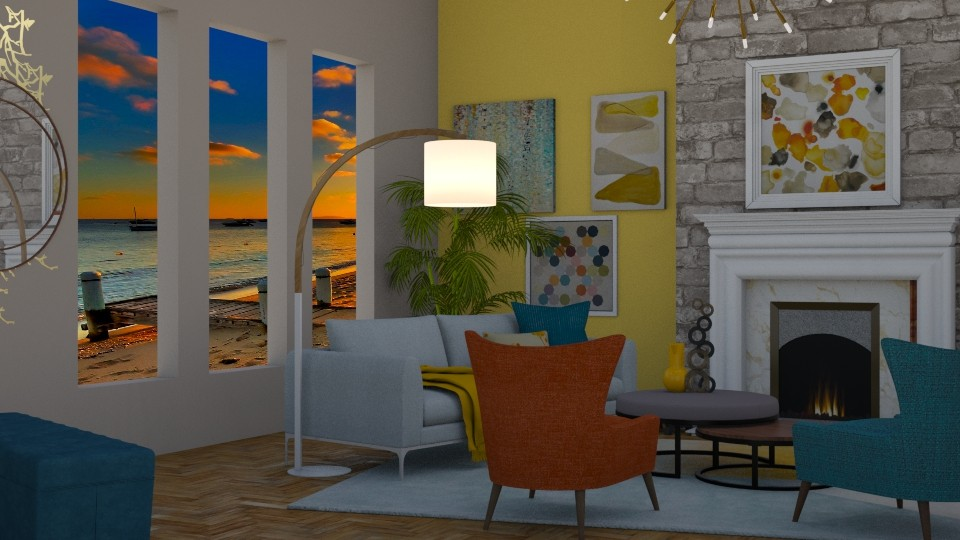 Mid_Century_Modern - Living room - by RaeCam