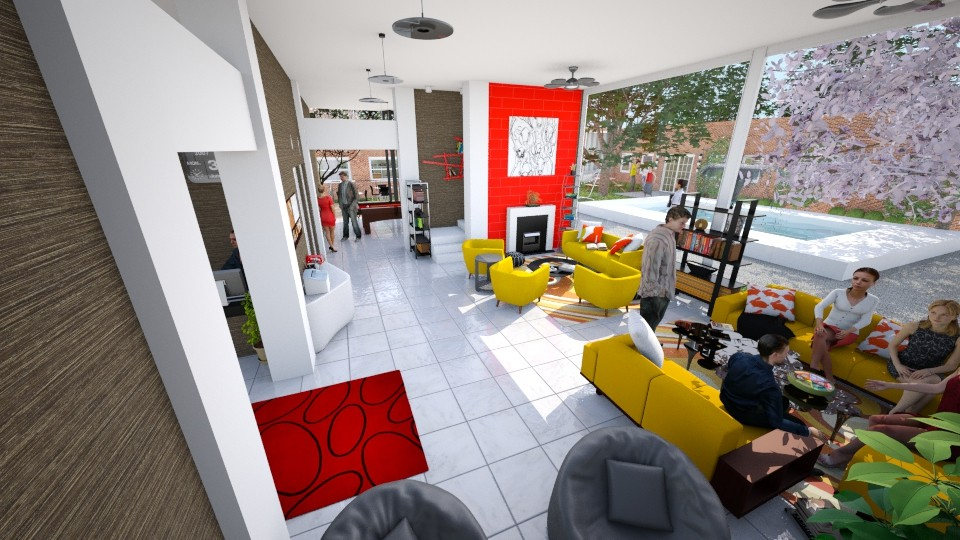 Student Lounge - Modern - Living room - by Candleshy