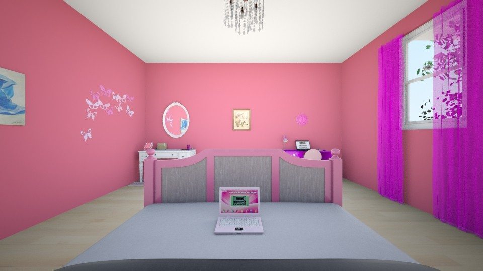 Pink - Feminine - Bedroom - by Winner168