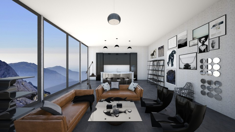 Contemporary artsy  - Living room - by rebsrebsmmg