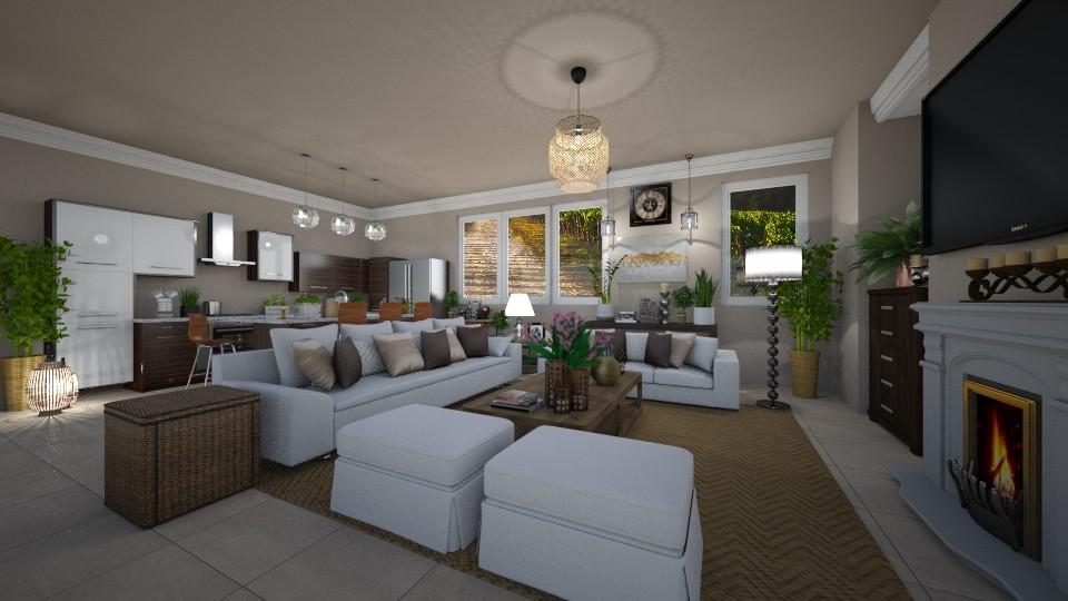 Tuscany Vineyard Living Room - Living room - by JarkaK