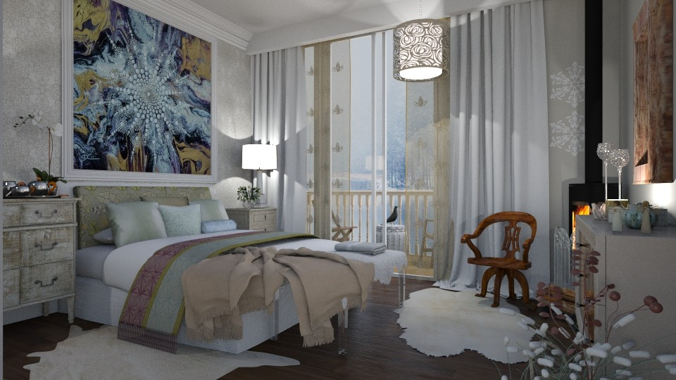 Winter Morning - Feminine - Bedroom - by janip