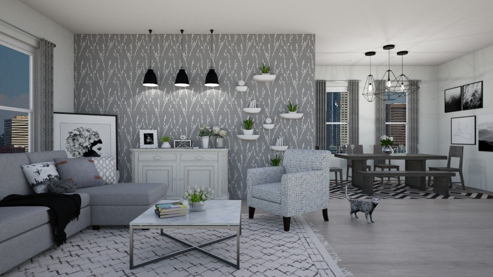 grey living  - by IsabelRule