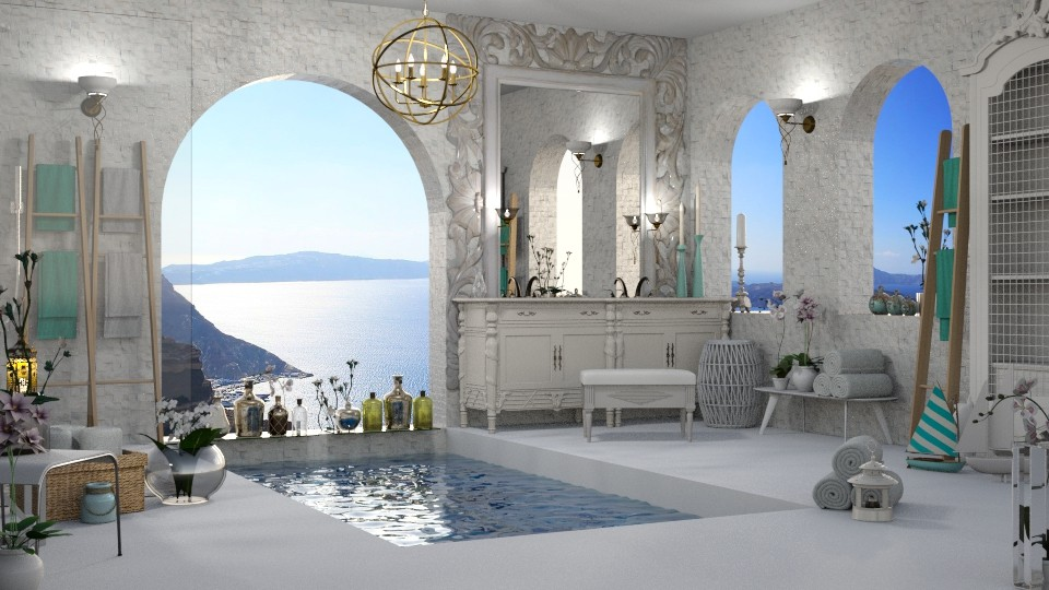 Santorini - Bathroom - by LuzMa HL