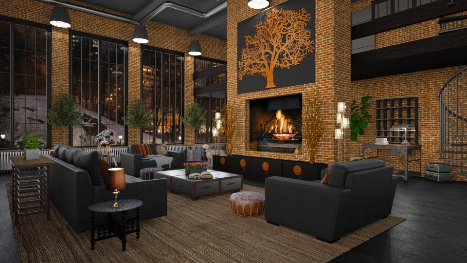Design 277 Warehouse Living - Living room - by Daisy320