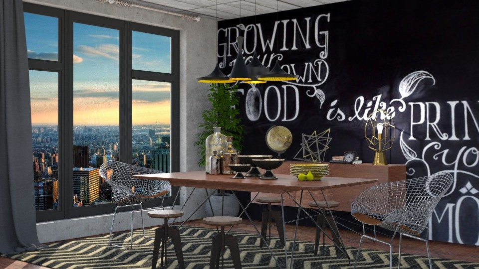 Industrial Dining - Dining room - by meggle