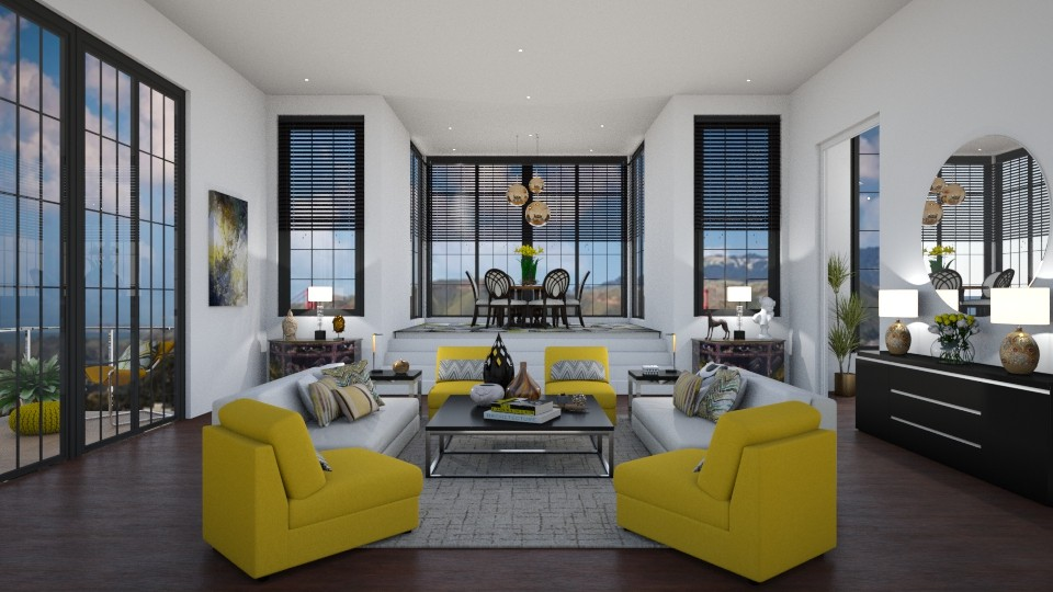 Mellow Yellow - Living room - by erstudio