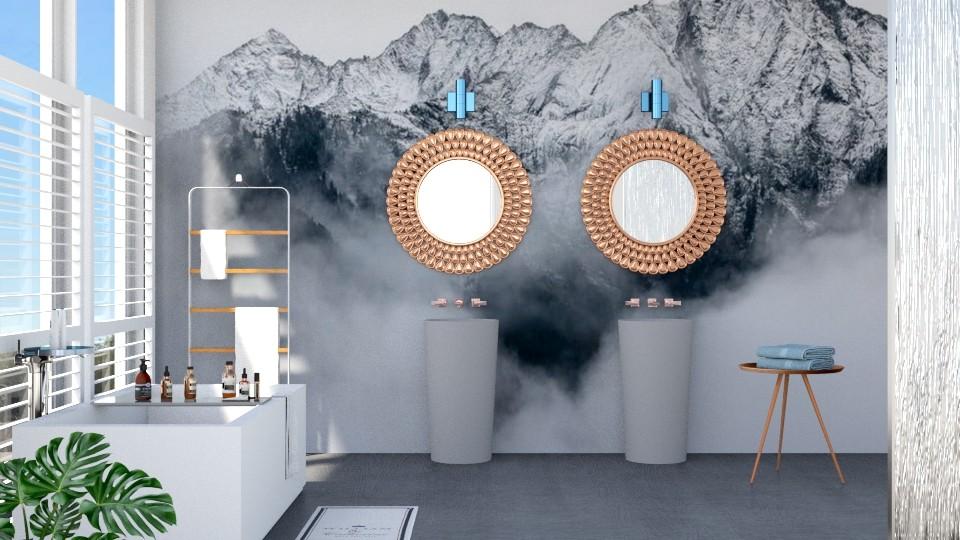 Wall accent bathroom - Modern - Bathroom - by jagwas