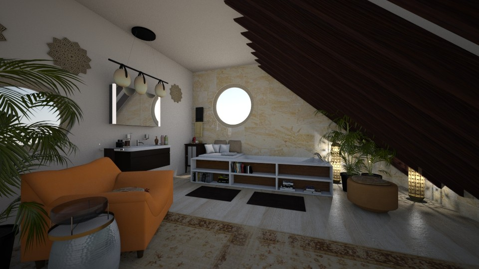 Attic bathroom - Bathroom - by dedraekelly