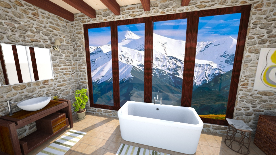 Log Cabin Bathroom - Bathroom - by mclaraop