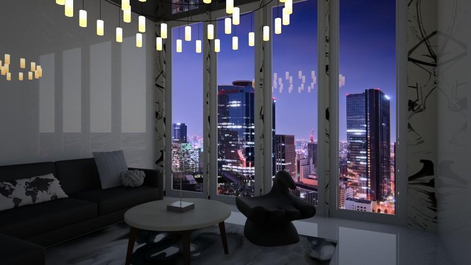BW living room - Living room - by avawrightthewrightone