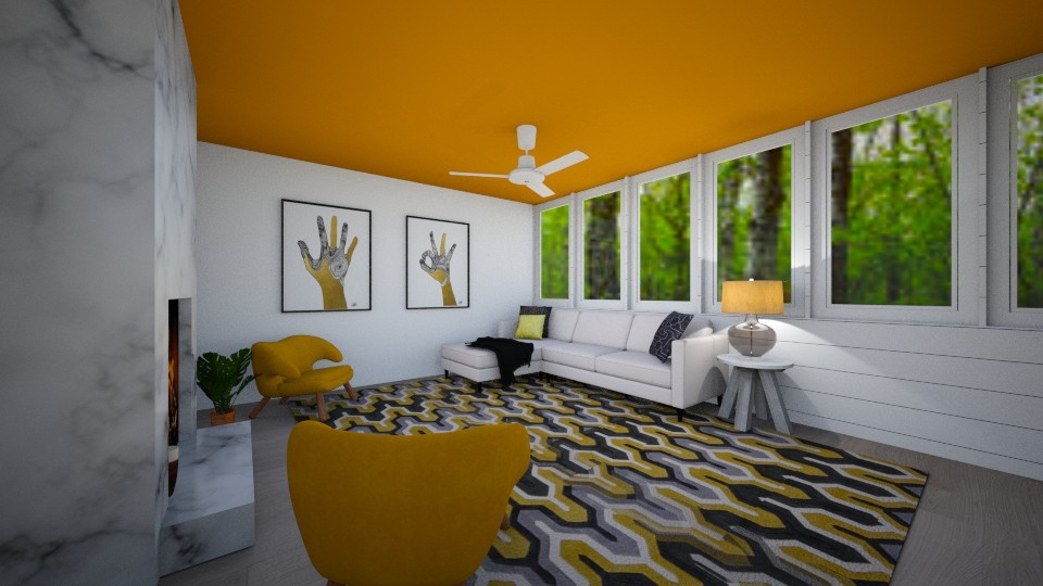 yellow chairs 6 - Living room - by Puppies44